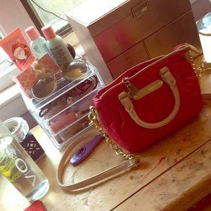 Pink Betsey Johnson purse!!